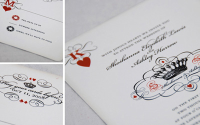 Lucky Vegas Themed Wedding Invitations Designed Silverbox Creative