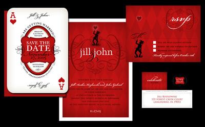 Viva Las Vegas Wedding Invitations Silverbox Creative Studio